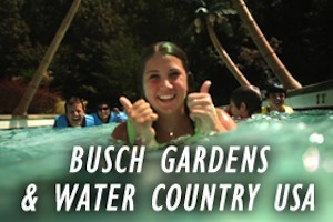 Busch Gardens Williamsburg and Water Country USA Family Vacation Package package information